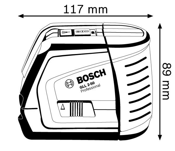 Построитель лазерных плоскостей Bosch GLL 2-50 P + настенн. крепление BM1 и приемник LR2.