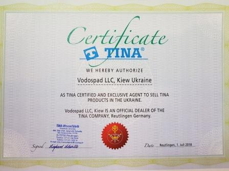 TINA Certificate for Ukraine