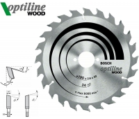 Пильный диск Bosch Optiline Wood 190 мм 24 зуб.