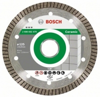 Круг алмазний Bosch Best for Ceramic Extraclean Turbo 125 x 22,23 x 1,4 x 7 mm
